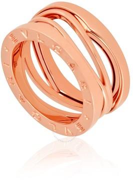 Bvlgari B.Zero1 18K Pink Gold 3-Band Ring Size 5 1/2