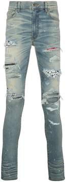 Amiri art patch printed jeans
