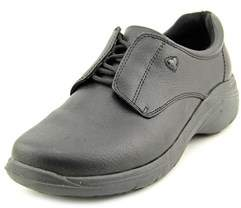 Nurse Mates Louise Women W Round Toe Leather Black Nursing & Medical Shoe.