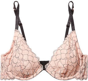 Eberjey Rosario The Plunge Stretch-corded Lace Underwired Bra - Blush