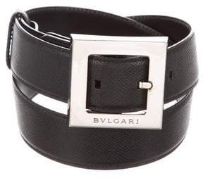 Bvlgari Leather Buckle Belt