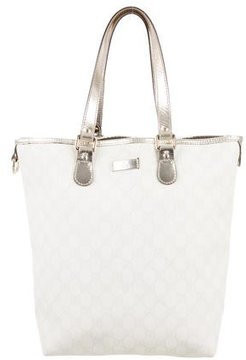 Gucci GG Supreme Medium Joy Tote - WHITE - STYLE