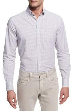 Loro Piana Check Cotton Oxford Shirt
