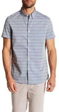 Kenneth Cole New York Multi-Stripe Short Sleeve Slim Fit Shirt
