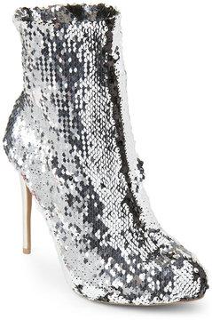 Wild Diva Silver Loren Sequin Booties