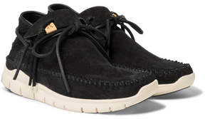Visvim Ute Moc Trainer-Folk Suede And Mesh Sneakers