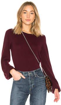 Autumn Cashmere Bishop Sleeve Crew Sweater
