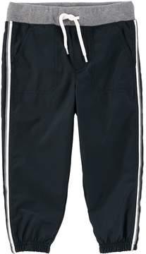 Osh Kosh Toddler Boy Striped Black Active Pants