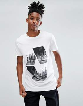 New Look T-Shirt With Diamond City Print In White
