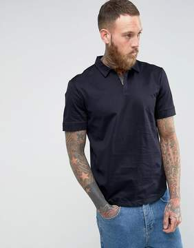 Kiomi Open Collar Polo Shirt