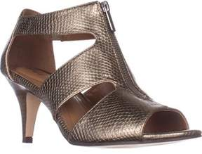 Style&Co. Sc35 Halinaa Zip-up Dress Sandals, Pewter Snake.