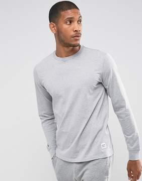 Converse Essentials Long Sleeve T-Shirt In Gray 10004622-A02