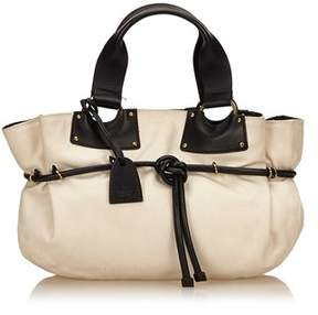 Gucci Pre-owned: Canvas Handbag. - WHITE X IVORY X BLACK - STYLE