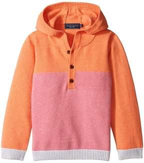 Toobydoo Pink Henley Hoodie (Infant/Toddler)