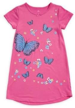 Petit Lem Little Girl's Butterfly-Print Sleepshirt