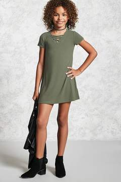 Forever 21 Girls Lace-Up Dress (Kids)