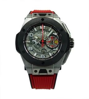 Hublot Big Bang Ferrari 401.NM.0123.VR.ENG13 Titanium & Rubber Automatic 45.5mm Mens Watch