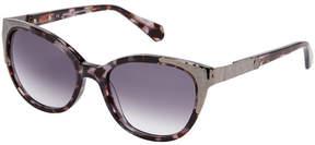 Balmain BL2072 Grey Tortoiseshell-Look Cat Eye Sunglasses