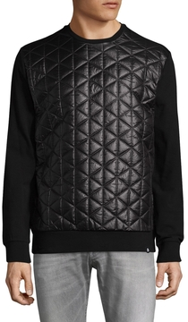 Karl Lagerfeld Men's Quilted Cotton Sweater