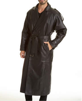 JCPenney Excelled Leather Trench Coat-Big & Tall