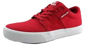 Supra Stacks Vulc Ii Youth Round Toe Canvas Red Skate Shoe.
