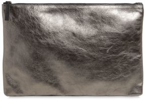 Small Metallic Leather Pouch