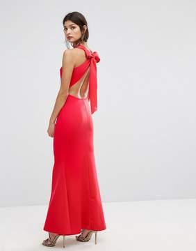 Club L Bow Back Detail Maxi Dress