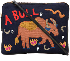 Lizzie Fortunato Jewels 'Safari' embroidered clutch