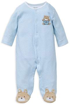 Little Me Boys' Chevron Bear Footie - Baby
