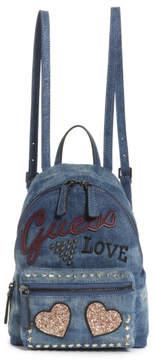 GUESS Urban Sport Leeza Denim Small Backpack