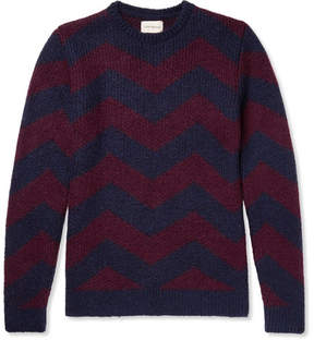 Oliver Spencer Blenheim Jacquard-Knit Wool-Blend Sweater