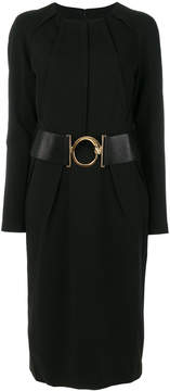 Class Roberto Cavalli belted gathered collar dress