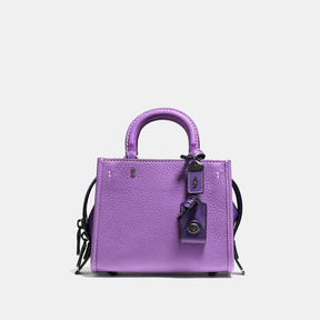 COACH Coach Rogue 17 In Colorblock Leather - BLACK COPPER/IRIS - STYLE