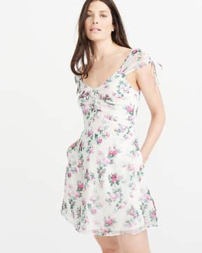 Abercrombie & Fitch Tie Detail Chiffon Dress