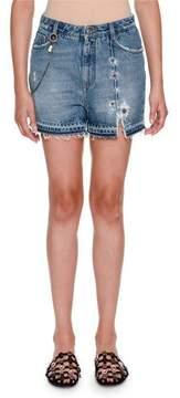 Ermanno Scervino Embellished Five-Pocket Jean Shorts