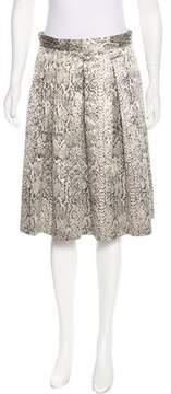 Tahari Brocade Pleated Skirt