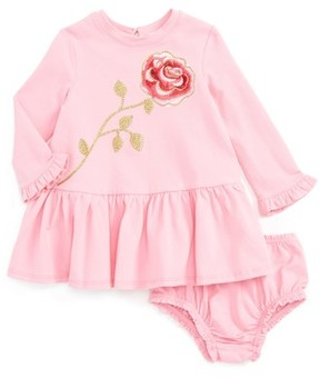 Kate Spade Infant Girl's Rose Sweatshirt Dress