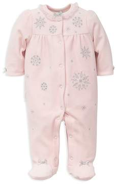 Little Me Girls' Snowflake Footie - Baby