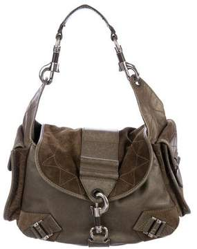 Christian Dior Leather & Suede Shoulder Bag