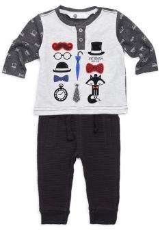 Petit Lem Baby Boy's Two-Piece Lil' Mister Top & Pants Set