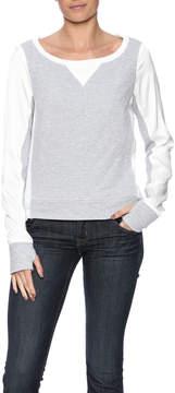 Blanc Noir High Low Sweatshirt