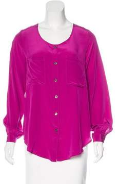 Fifteen-Twenty Fifteen Twenty Silk Long Sleeve Top w/ Tags