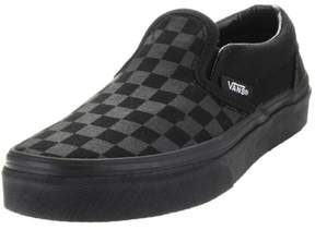 Vans Kids Classic Slip-On (Checkerboard) Mono/Black Skate Shoe 11 Kids US