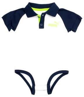 Puma Infant Boy's Short Sleeve Polo 3-Piece Active Green Pants Set Sz: 24 Months