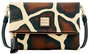 Dooney & Bourke Serengeti Foldover Zip Crossbody - GIRAFFE BLACK - STYLE