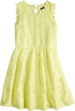 My Michelle Girls 7-16 Crochet Lace Skater Dress