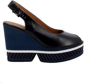 Robert Clergerie Blue Leather Wedges