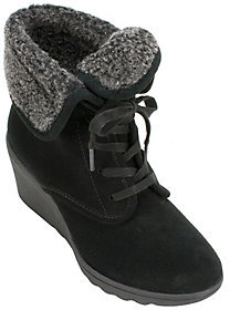 White Mountain Suede Lace-up Ankle Boots - Koko