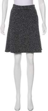 Theory Striped Tweed Skirt