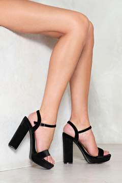 Nasty Gal nastygal Soft Seduction Velvet Platform